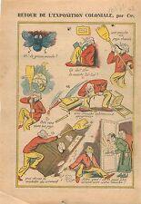 Caricature Exposition Coloniale Mouche Tsé-tsé Appartement Paris 1931