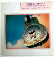 EX/EX DIRE STRAITS BROTHERS IN ARMS Shaped Vinyl Picture Pic Disc