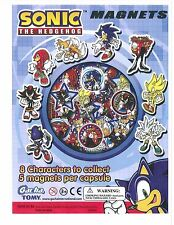 SEGA TOMY SONIC THE HEDGEHOG MASCOT DIE-CUT MAGNETS 40PC COMPLETE SET
