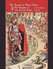 Legend of King Arthur and His Knights of the Round Table Adult Coloring Book