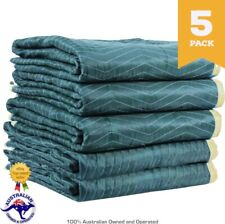 5x Burlap Pad 1.8mx3.0m Furniture Moving Blankets Padded Removalist Quilted Pads