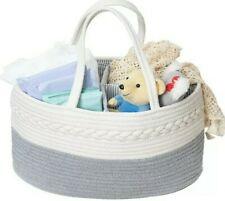 Luxury Diaper Caddy/Organizer Rope Nursery Storage Bin