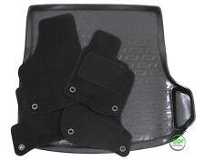 VW GOLF 5 / 6   VARIANT 2003-2012 Tailored black floor car mats + boot tray mat