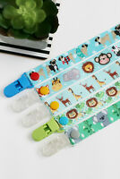 Animals Dummy Clip for Girls and Boys Pacifier Clip Dummy Saver, add MAM adapter