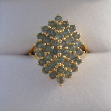 1.58ct Certified Alexandrite Gold Cluster Ring