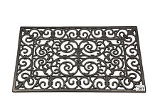 Large Home Door Barrier Mat Mud Dirt Scraper Vintage Style Retro Design 45x75cm.