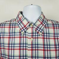 Brooks Brothers Regent Non iron Mens Blue Red Plaid Check Dress Shirt Sz Large L