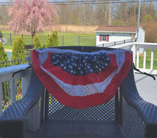 *2*Usa Patriotic American Flag Stars and Stripes Red White Blue Bunting Two