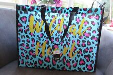 Pep & Co Turquoise/Pink Leopard Tote 'Wild at Heart' new with tags