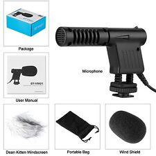 BY-VM01 Shotgun Condenser Microphone 3.5mm Directional Mic for DSLR Camera Mua