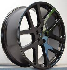 "20"" Gloss Black Staggered Viper Wheels 300C SRT8 Charger Magnum Set 4 New  Rims"