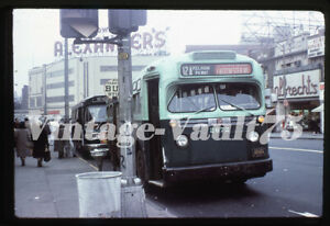 DUPLICATE SLIDE BUS GM 2672 MABSTOA NEW YORK CITY TRANSIT 1970'S BRONX