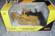 CATERPILLAR MACHINERY DIECAST MODEL 1:50D11T TRACKTYPE TRACTOR WITH METAL TRACKS