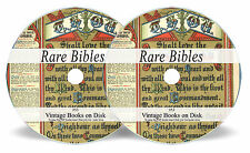 Bibles Rare Ancient Antique on 2x DVD Douay-Rheims Coverdale Psalter Bishops 53