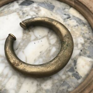 Heavy antique French Solid brass door knocker ring Gold