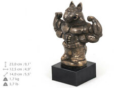 Bull Terrier macho, statue miniature / buste de chien, limitée, Art Dog FR
