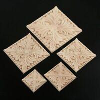 Onlay Applique Corner Frame Decal Mouldings Room Door Cabinet Wood Carved Decor