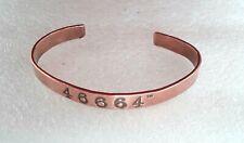 More details for mandela day copper bracelet 17.5cm 8mm wide ref:f241