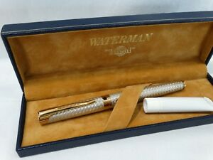 Waterman L'Etalon Sterling Silver, 18kt gold-750  EX condition-NEVER DIPPED!!