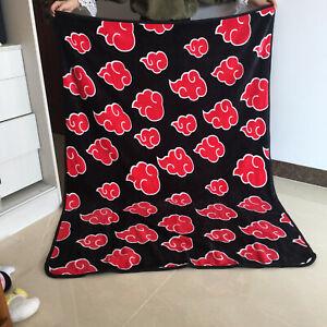 naruto red cloud anime fleece quilt blanket rug warm carpet 150x120cm size s