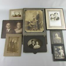 Vintage photo lot of 8 couples couple man woman  cardboard framed