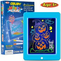 Obuby Kids Magic Pad Light Up Glow Drawing Board LED Draw Sketch Tablet for Art