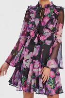Forever Unique Women's Jamie Purple Tulip Print Skater Dress