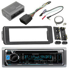 Kenwood Bluetooth USB CD Radio, Harley 98-2013 FLHTC FLHX Install Adapter Kit