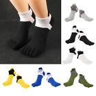 6Pairs Cotton Toe Socks No Show Sports Yoga Crew Boot Socks Casual Hosiery