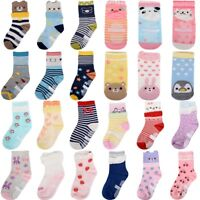 6 Pairs Baby Boy Girl Cartoon Cotton Socks NewBorn Infant Toddler Kids Soft Sock