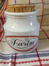 """Porcelaine d'Auteuil Bistrot Jacques lobjoy : 1 pot """" FARINE """""""