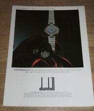 DUNHILL - WATCH - 1990 MAGAZINE ADVERT - MINI POSTER 12 X 9 INCH
