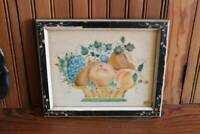 Vintage Theorem Painting Antique Frame