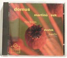 DOMUS - Martinů/Suk Piano Quartets/Dvořák Bagatelles - Virgin 1992 - NM (101)