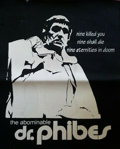 THE ABOMINABLE DR. PHIBES VINCENT CULT FILM MOVIE BLACK CANVAS BACK PATCH
