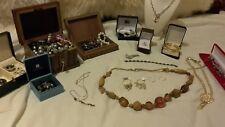 vintage costume jewellery joblot plus 925 sterling silver