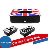PU Auto Car Napkin Paper Holder Tissue Box Cover For Mini Cooper LIN