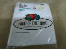 New 1978 Vintage Fruit of the Loom Men's Crew Neck Tee Shirts boys size 12 3pk