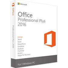 Microsoft® Office 2016 Professional Plus 2PC Lizenz✔ +GRATIS Installation DVD ✔