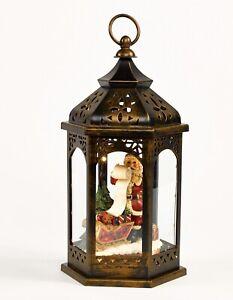 Christmas Lantern with Santa and LED Lighting - Xmas