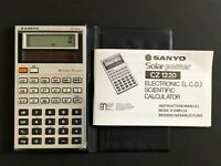 Sanyo CZ 1220 Electronic LCD Scientific Calculator with instruction manual c1983