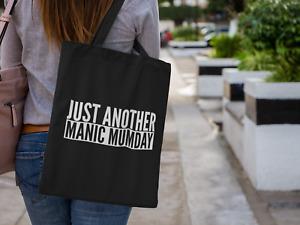 Just Another Manic Mumday Lightweight Cotton Tote Bag Slogan Tote Parent Mummy