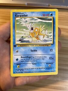 Pokémon Karte Karpador 1. Edition Base Set 43/102 Deutsch TCG