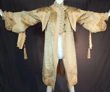 Edwardian Cream Mohair Wool Embroidery Tassel Trim Lace Cuff Winter Cutaway Coat
