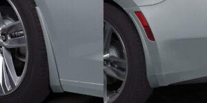 2019 Camaro GM Front & Rear Splash Guards Satin Steel Gray Metallic
