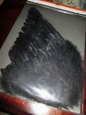Authentic BLACK FEATHER Costume WINGS Angel NEW Bird FAIRY Accessory NYMPH BAT