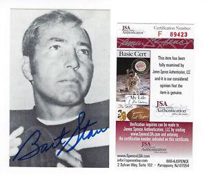 PACKERS Bart Starr signed postcard RGA photo JSA COA AUTO Autographed