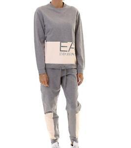 EA7 Emporio Armani 7 - Tuta Donna Grigio Felpa Pantaloni