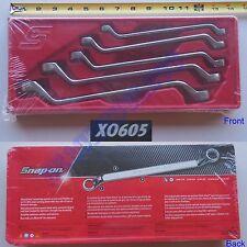 New Snap On 12 Pt STANDARD Deep 60° Offset Box Wrench 5 Pcs Set - XO605 SAE