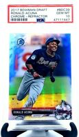 2017 Bowman Draft Chrome REFRACTOR RONALD ACUNA JR. ROOKIE CARD PSA 10 GEM MINT